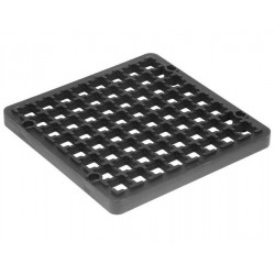 160mm x 160mm Square Gully Grid Black
